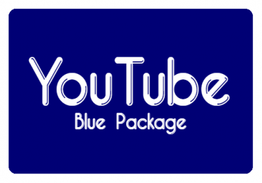 YouTube Promotion Package - Blue
