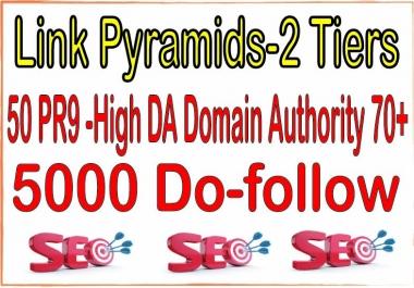 50 PR9 -High DA (Domain Authority) 70+ SEO Backlinks & 5000 Do-follow For Your Website Power Your Ti