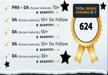 Get 475 PR9-DA -Domain Authority Rank Your website Google 1st Page