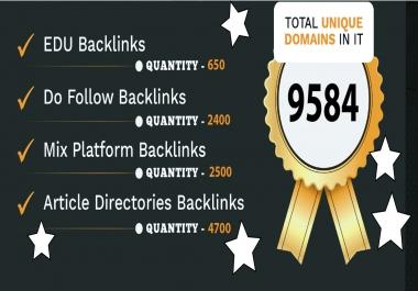 Get 10250 PR7-9-Edu-Do follow -Mix Platform-Directories Backlinks Rank Your website Google 1st Page