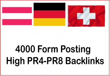 Get 4000 From posting High Authorized Google Dominating german, austria, switzerland Backlinks