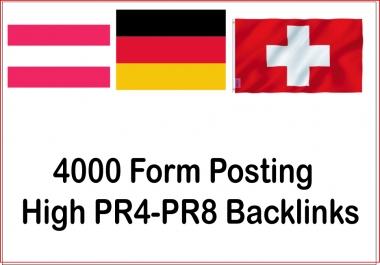Get 4000 From posting High Authorized Google Dominating german, austria, switzerland Backlinks