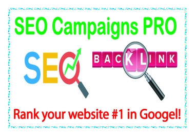 SEO Campaigns PRO-Rank your website #1 in Google!
