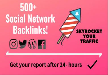 Provide 500 Social Network Profile Backlinks from DA90 Plus websites