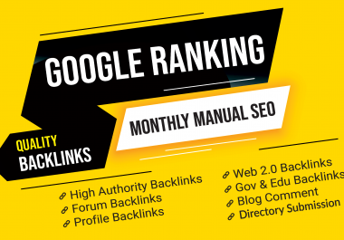 80+ MANUALLY High Quality PR10 (DA 100-70) Authority Backlinks