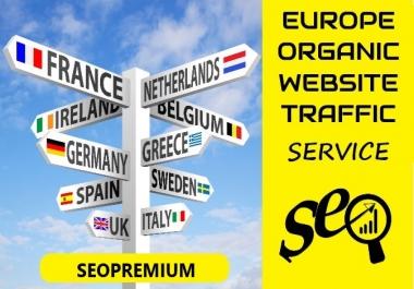 15000 REAL Organic EUROPE Website Traffic Visitors
