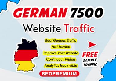 7500 Real Germany Website Traffic Visitors - Organic