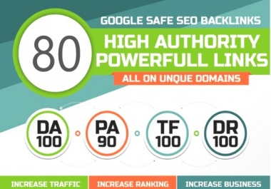Manual 80 UNIQUE DA100 sites PR10 SEO BackIinks plus 100 WEB2.0 links
