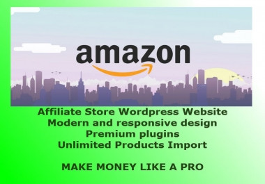 build modern and responsive amazon affiliate store in wordpress