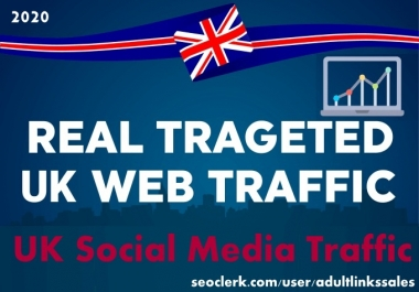 Send 5k-300k UK social media traffic with adsense safe