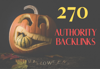 Do 270 High Authority SEO Backlinks For Google Ranking