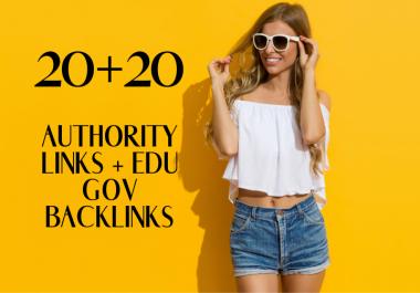Do 20 Authority Backlinks With 20 EDU Backlinks For SEO Ranking