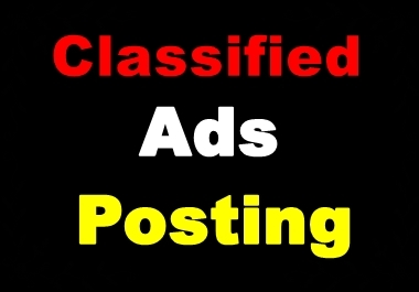 Manually Post Free Classified ads on 20 Sites