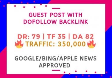 Guest Posting on DA 82 google news site with backlink