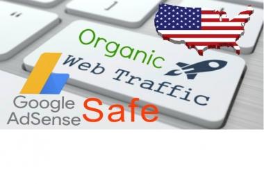 send keyword target organic website traffic from usa,adsense safe