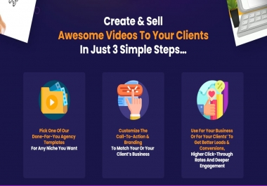 Unlimited Access to my Online VIDEO MAKER. Hundereds of Customizeable Templates