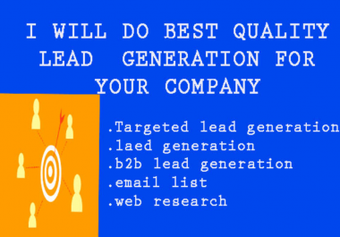 Build your target E---L&contact list to lead generation