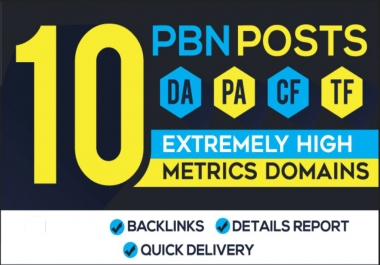 15 Handmade PBN Posts - High Metrics DA Backlinks [Unique Content]