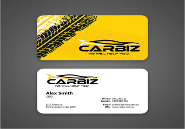 design professional business card within fast