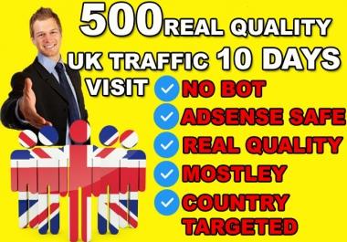 drive ORAGANIC UNITED KINGDOM country target , website traffic visitors