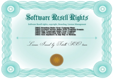 Get a Software Resell rights and copyright under your company with license management system