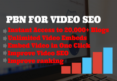 PBN Pro - instant access to 20,000+ wordpress blogs for video SEO for 1 month