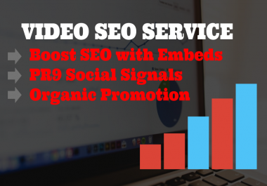 Video Promotion Pack- Do MASSIVE Youtube Video Organic Promotion with SEO Embeds
