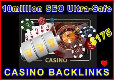 10million SEO Ultra-Safe CASINO GSA SER Backlinks