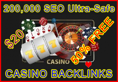 200.000 SEO Ultra-Safe GSA SER Casino Backlinks