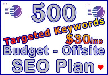 Target 500 Keywords Budget - Offsite SEO