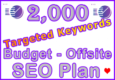 2,000 Targeted Keywords Budget - Offsite SEO Plan