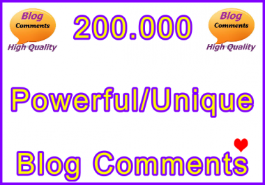 200.000 Tiered SEO Ultra-Safe Blog Comments
