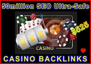 50million SEO Ultra-Safe CASINO GSA SER Backlinks
