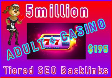 5million Tiered SEO Ultra-Safe Adult Backlinks