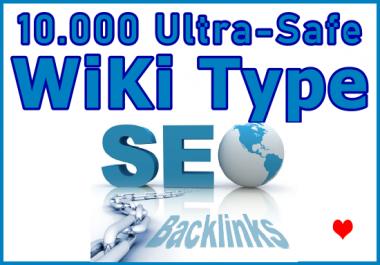 10.000 Wiki Type SEO Ultra-Safe Link Juice