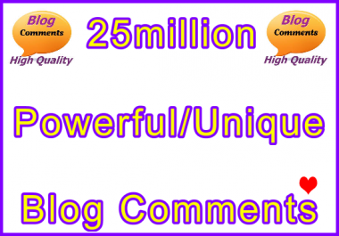 25million Tiered SEO Ultra-Safe Blog Comments