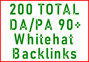 200 x 90+ DA/PA Whitehat Manually Submitted Backlinks