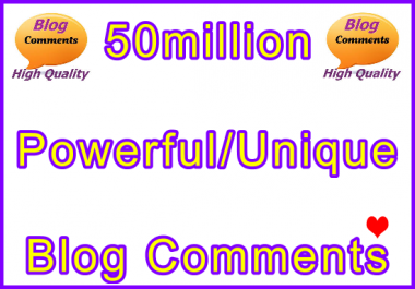 50million SEO Ultra-Safe Tiered Blog Comments