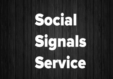 Authentic 5000 Branded Social Signals Service To Rank #1 On Google