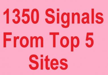 1350 Social Signals from top 5 Site Pinterest, Twitt, Tumblr Xing