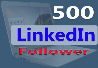 Add 500 Real USA LinkedIn follower to your company page or profile