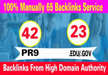 do 42 PR9 +23 EDU/GOV High DA SEO Backlinks