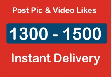 Instantly Organic 1300 - 1500 Promotion Marketing Social Profile Followers High Quality
