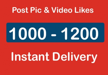 Instantly 1000 - 1200 Social Post Pictures video Promotion and Marketing