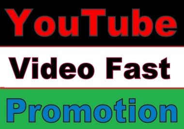 Youtube Video PROMOTION via Social Media Marketing
