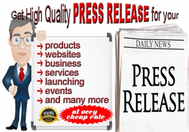 Get High Quality, SEO Optimized Press Release for Brand Awareness, Traffic Visitors, Higher Rankings