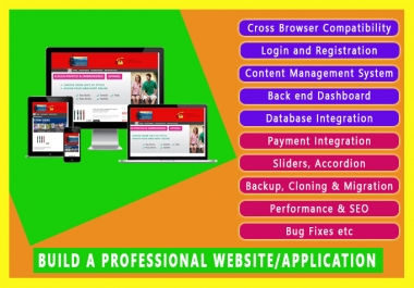 I will design a professional Website or Application