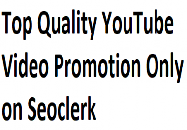 Best YouTube Video Promotion & Marketing