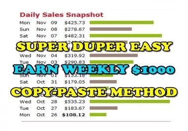 Make Money 100-1000 USD Per Week Using Copy-Paste Method
