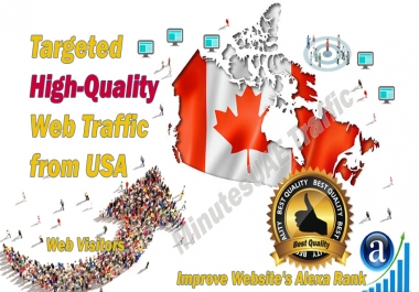 Canadian web visitors real targeted high-quality web traffic from Canada